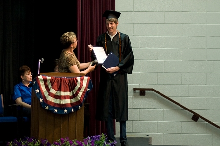 Presentation of award to student
